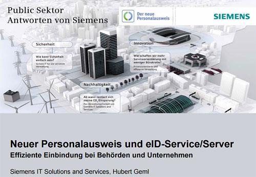 Elektronischer Personalausweis und eID-Service/ eID-Server