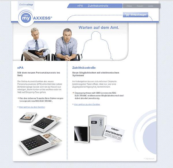 OBID myAXXESS nPA-Shop von FEIG Electronic
