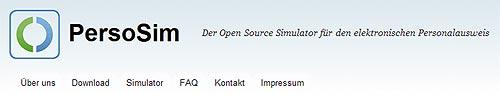 PersoSim Open Source Simulator für den elektronischen Personalausweis