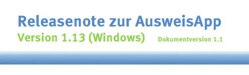 AusweisApp Version 1.13