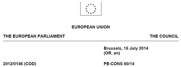 Entwurf der Verordnung eIDAS für elektronische Identifizierung sowie Vertrauensdienste für den Binnenmarkt