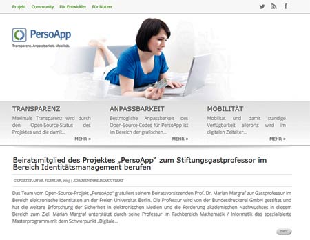 Open-Source-Projekt Persoapp - Relaunch der Webseite http://www.persoapp.de