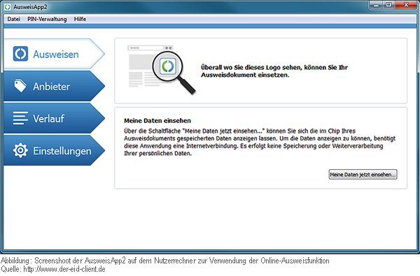 eID-Client-Software (AusweisApp2) zur Nutzung der eID-Funktion