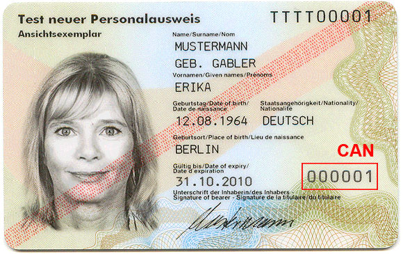 Ausweis verloren - Online-Ausweisfunktion sperren per CAN