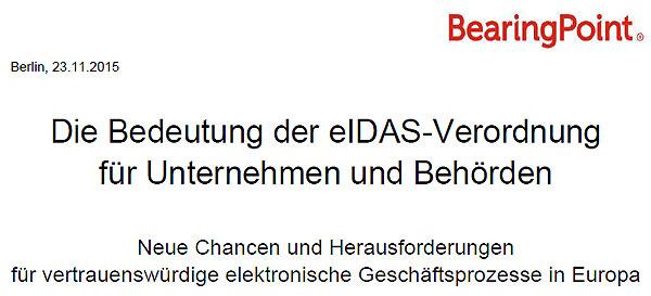 Die Bedeutung der eIDAS-Verordnung für Unternehmen und Behörden