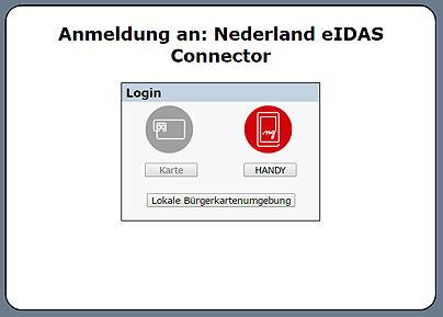 Österreichcische Bürgerkarte im eIDAS-Demo-Poral