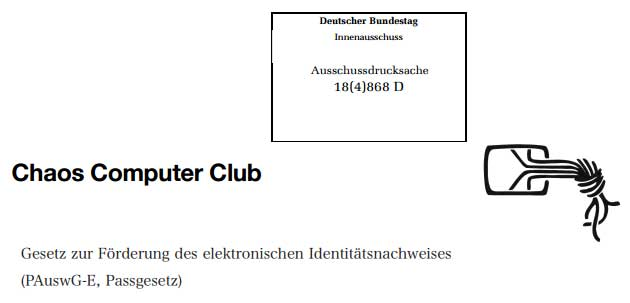 Stellungnahme zur eID-Funktion (Online-Ausweisfunktion) des Chaos Computer Clubs