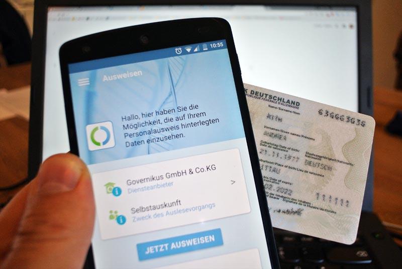 mobile Nutzung der eID-Funktion bzw. mobile Nutzung der AusweisApp per Smartphone