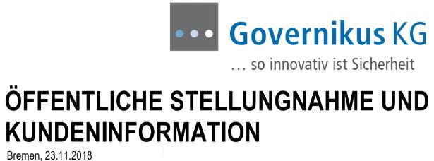 GOVERNIKUS KG Stellungnahme Schwachstelle Online-Ausweisfunktion