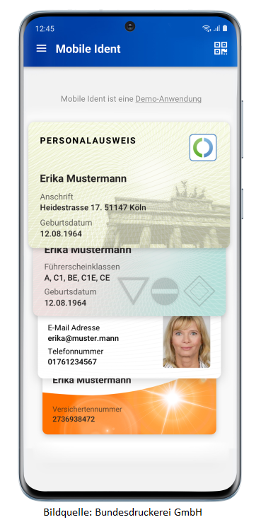 Personalausweis auf dem Smartphone (Online-Ausweisfunktion)